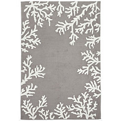 Livia Gray Reef Area Rug, 5x8