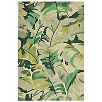Livia Tropical Leaf Area Rug, 5x8