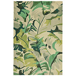 Livia Tropical Leaf Area Rug, 5x8