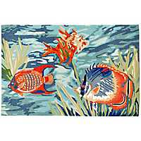 Patras Sealife Area Rug, 5x8
