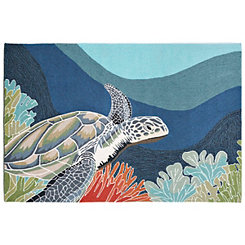 Patras Sea Turtle Area Rug, 5x8