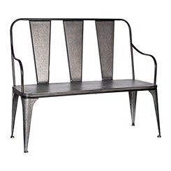 Galvanized Metal Outdoor Bench