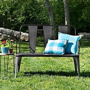 Galvanized Metal Outdoor Bench