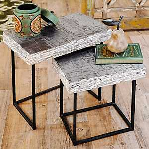 Nested Wood Accent Tables, Set of 2