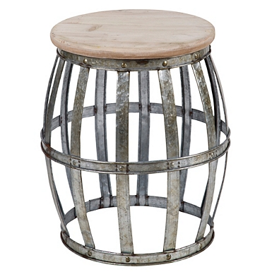 woven galvanized metal accent table - Decorative Tables