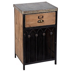 Shabby Wood Nightstand Accent Table