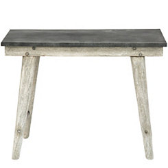 Small Metal Top Farm Table