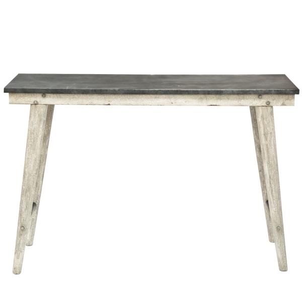 Large Metal Top Farm Table Kirklands