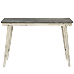 Large Metal Top Farm Table
