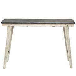 Large Metal Top Farm Table