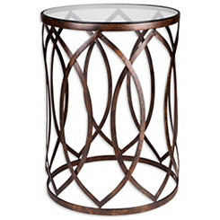 Golden Barrel Accent Table