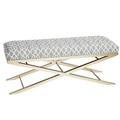 Trellis Gold Metal Bench