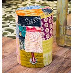Tree Trunk Patchwork Round Stool