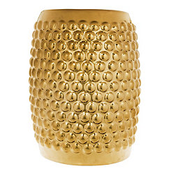Gold Ceramic Garden Stool
