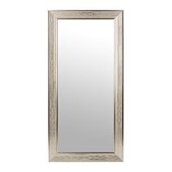 Silver Grid Framed Wall Mirror, 31.5x65.5 in.