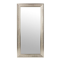 Silver Grid Framed Wall Mirror, 31.5x65.5 in.