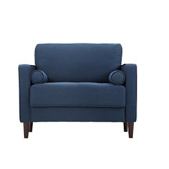 Navy Vero Large Accent Chair