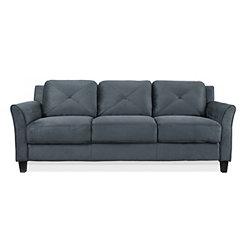 Dark Gray Reggio Curved Arm Sofa