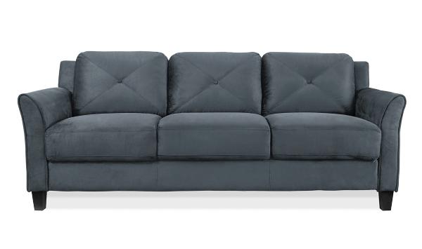 Dark Gray Reggio Curved Arm Sofa