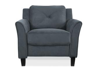Dark Gray Reggio Curved Arm Chair