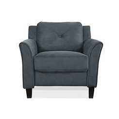 Dark Gray Reggio Curved Arm Chair