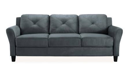 Dark Gray Reggio Round Arm Sofa