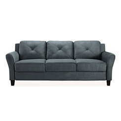 Dark Gray Reggio Round Arm Sofa