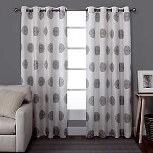 Gray Medallion Curtain Panel Set, 84 in.