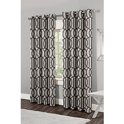 Trincity Black Trellis Curtain Panel Set, 84 in.