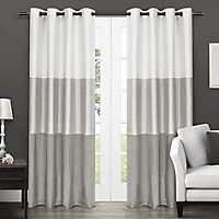 Chateau Gray Stripe Curtain Panel Set, 84 in.