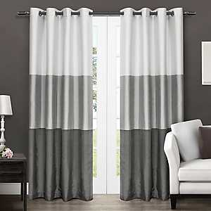 Chateau Black Stripe Curtain Panel Set, 96 in.
