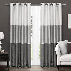 Chateau Black Stripe Curtain Panel Set, 96 in.