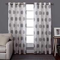 Black Pearl Medallion Curtain Panel Set, 96 in.