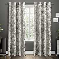 Black Pearl Branches Curtain Panel Set, 96 in.