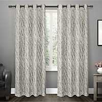 Oakdale Gray Branches Curtain Panel Set, 84 in.