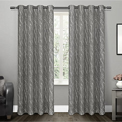 Oakdale Black Branches Curtain Panel Set, 96 in.