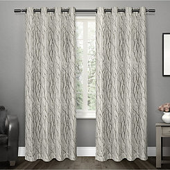 Oakdale Gray Branches Curtain Panel Set, 96 in.