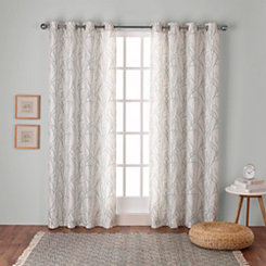 Sea Foam Branches Curtain Panel Set, 84 in.