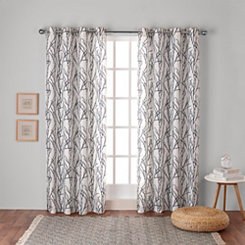 Indigo Branches Curtain Panel Set, 84 in.