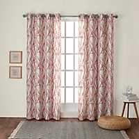 Orange Branches Curtain Panel Set, 96 in.