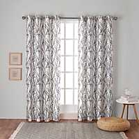 Indigo Branches Curtain Panel Set, 96 in.