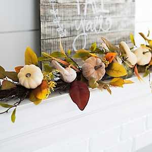 Neutral Harvest Pumpkin Garland