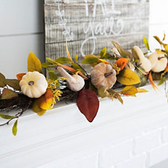 Neutral Harvest Pumpkin Garland