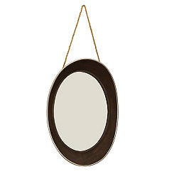 Round Rustic Wall Mirror