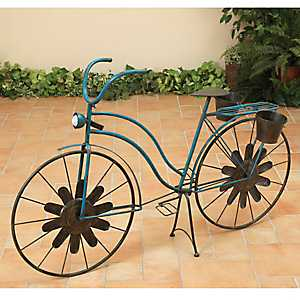 Solar Light Antique Bicycle Planter
