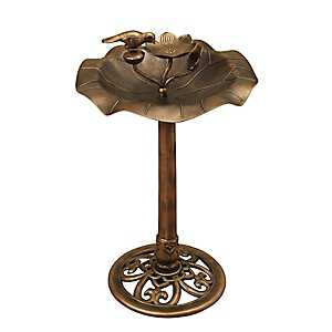 Antique Bronze Resin Bird Bath