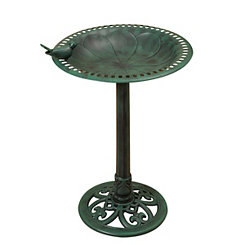 Verdigris Resin Bird Bath