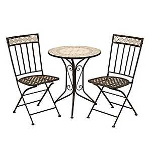 Mosaic Metal Bistro Set