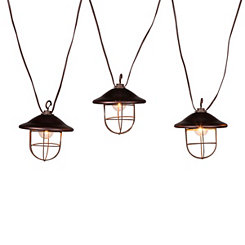 Caged Antique Bronze String Lights