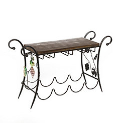 Scrolled Grape Vine Wine Rack